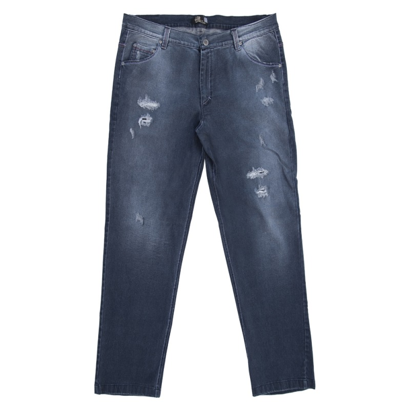 233cf717584 Χειμερινό παντελόνι τζιν ελαστικό με φθορές και ξεβάμματα - ΜΠΛΕ