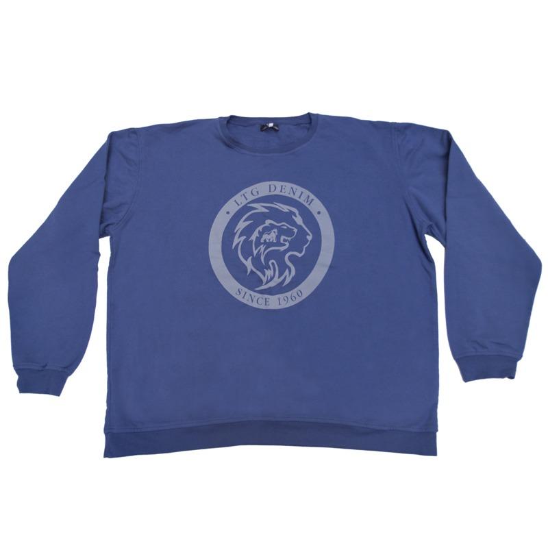 Μπλούζα φούτερ λαιμόκοψη με μεταξοτυπία - ΙΝΤΙΓΚΟ 043d6bad3c7